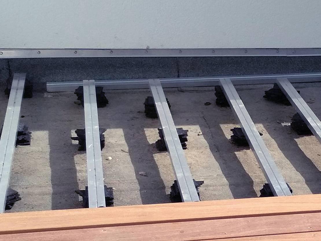 Terrassen Unterkonstruktion   Wälderhaus Handels GmbH & Co KG